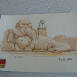 Star Wars Galaxy 1993 Topps #27 Jabba the hutt Trading card